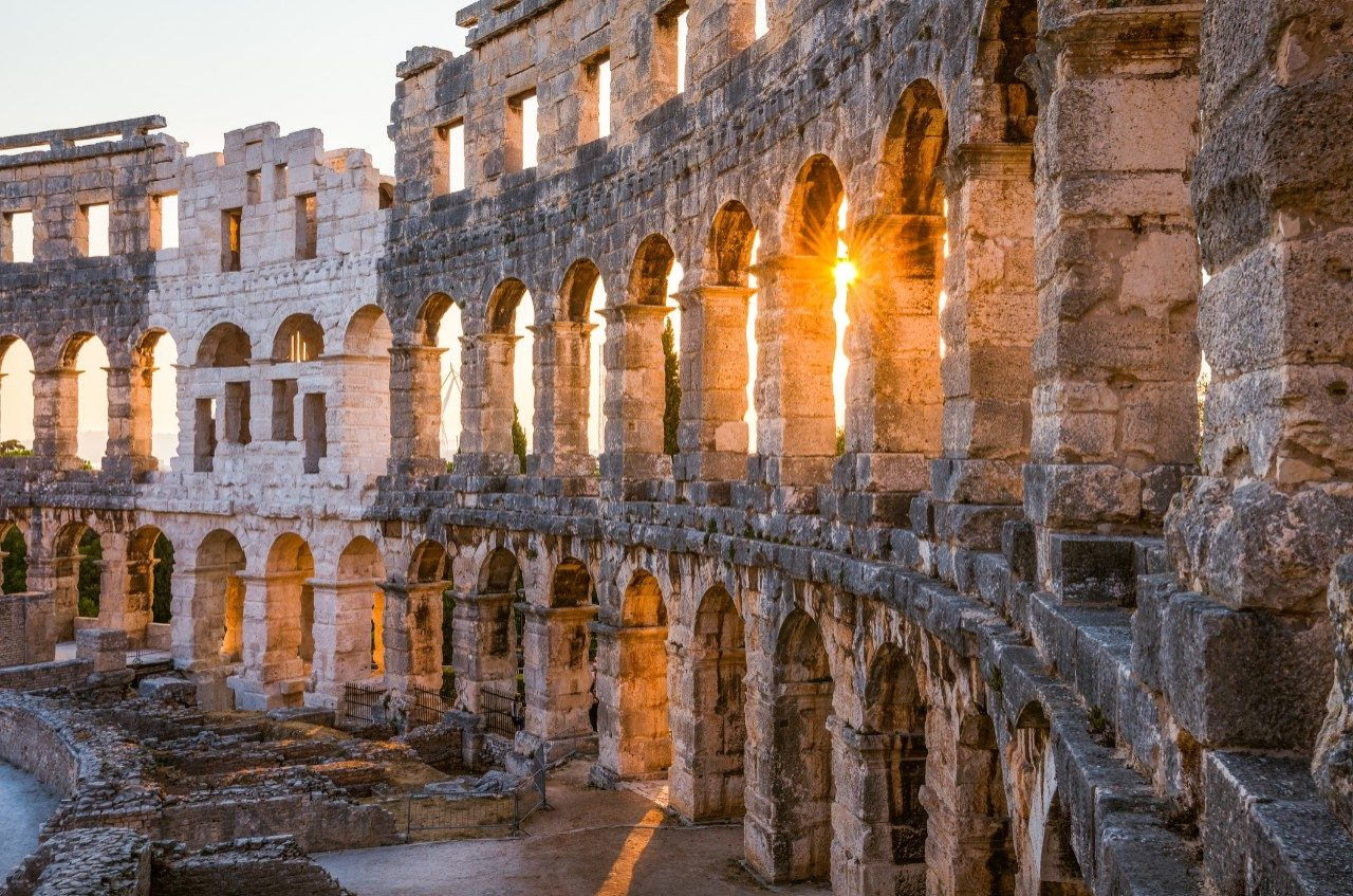 The Roman Colosseum in Pula, Croatia