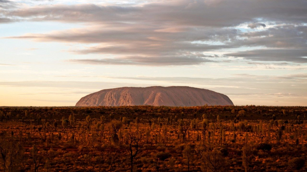 Uluru at dusk, Northern Territory