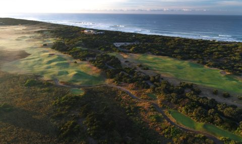 Aerial view of 13th Beach Golf Course, Victoria