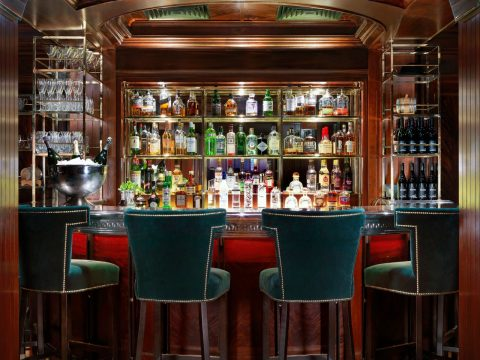 The Bloomsbury Club bar at the Bloomsbury Hotel, London