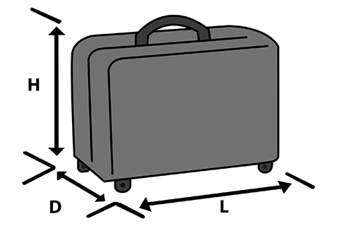 Baggage dimensions how to measure