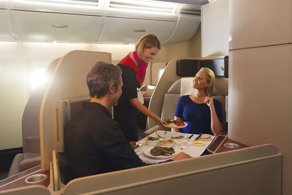 First dining on the Qantas A380