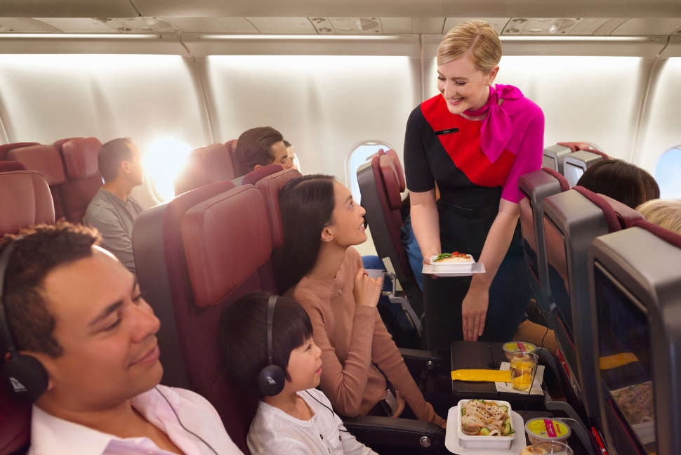 A330 International Economy, Inflight dining