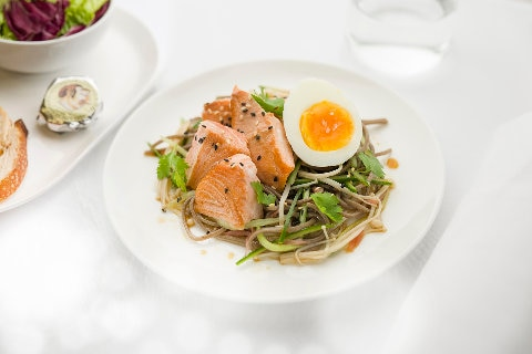 Healthy brunch Bowl with hot smoked trout - Domestic Business
