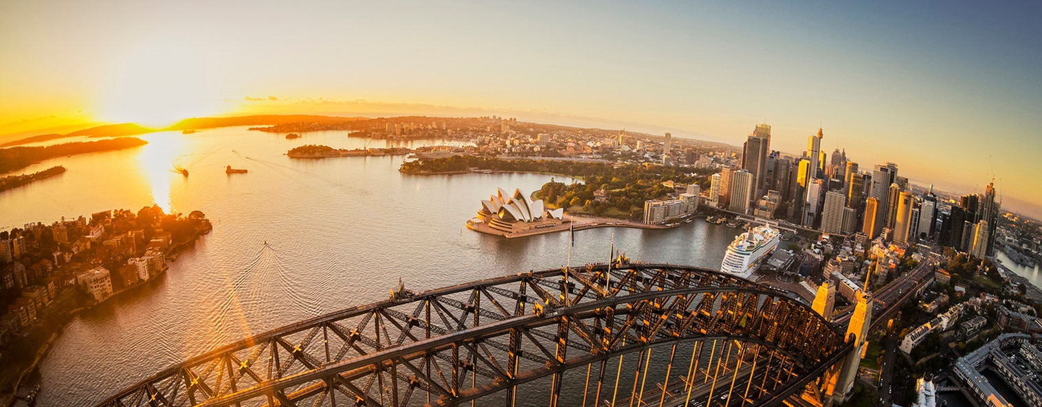 Nsw Sydney Aerial Harbour Bridge
