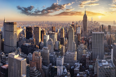 New York, Manhattan skyline