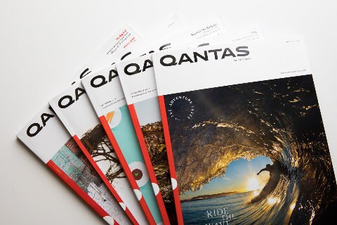 Qantas magazine covers