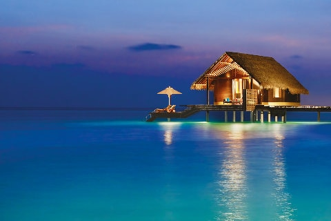 Overwater bungalow, Maldives
