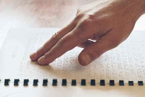 Braille for vision impaired
