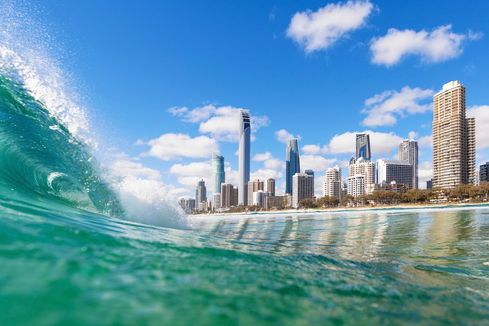 Queensland Beach Wave Surfers Paradise