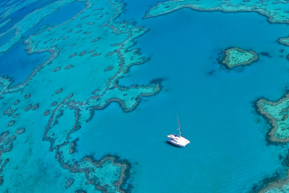 Sailing on the Great Barrier Reef