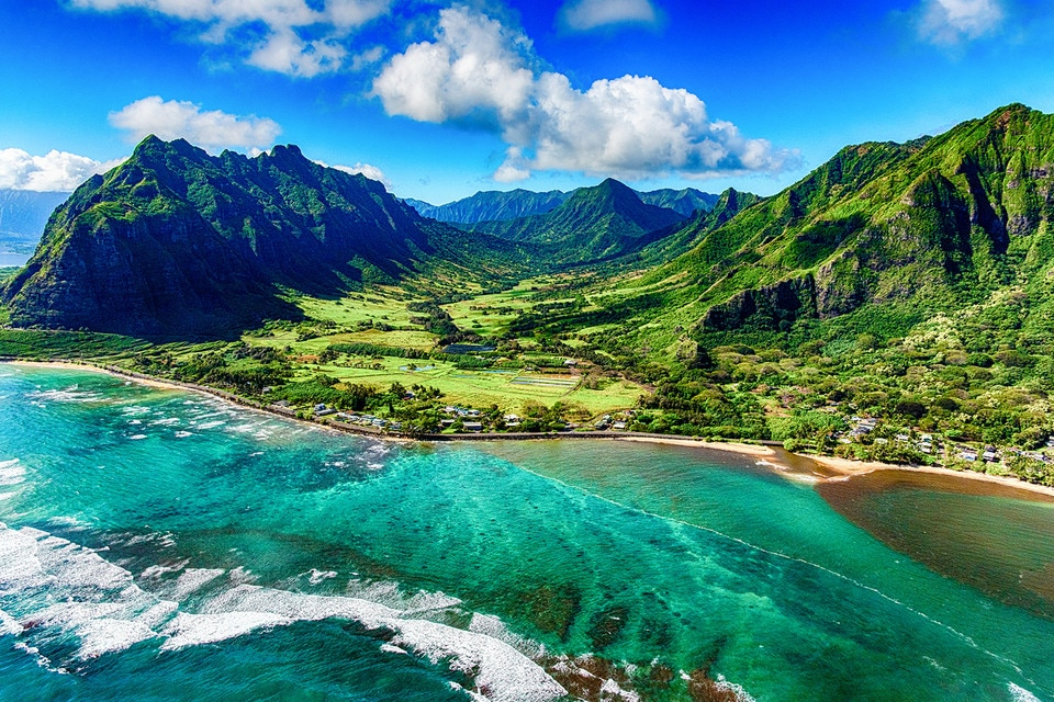 Coastal Oahu, Hawaii and the Kualoa Ranch