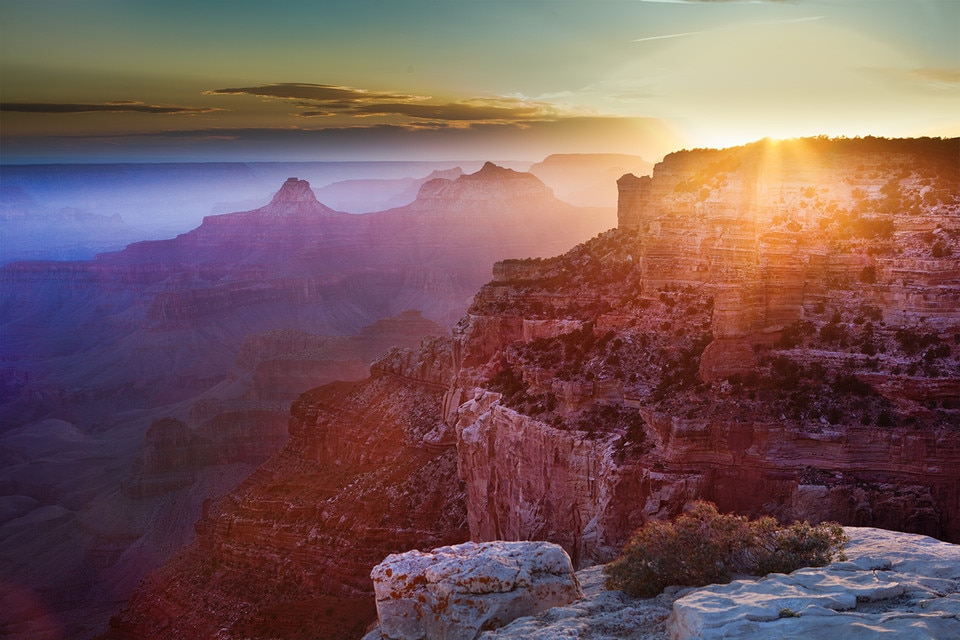 The Grand Canyon at sunrise, United States