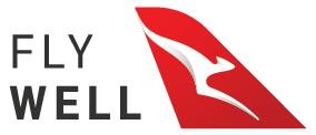 Qantas Fly Well logo