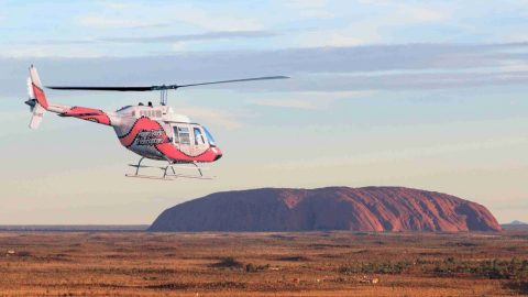 Helicopter tour over Uluru