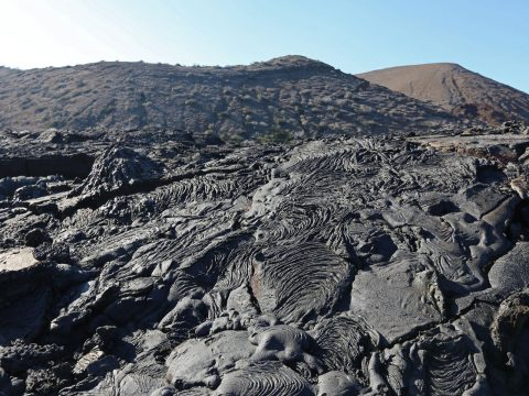 galapagos island volcanic landscape