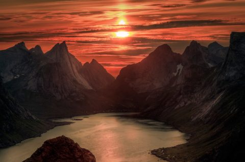 The midnight sun, Lofoten