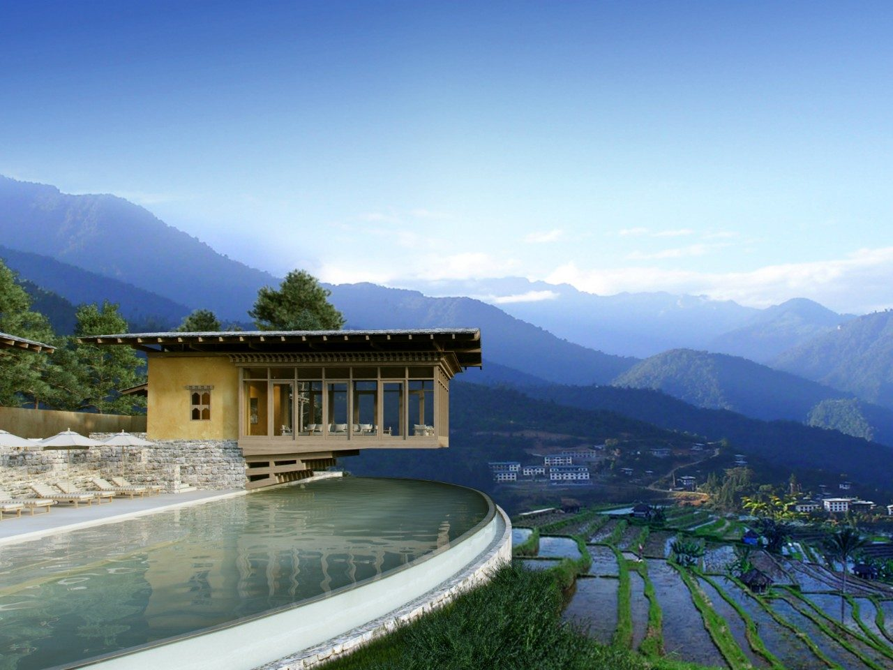 Bhutan Six Senses resort