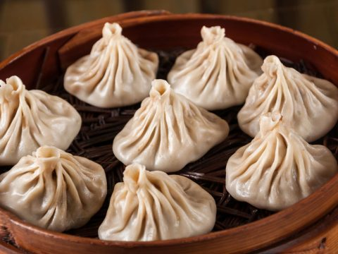 Sample Shanghai soup dumplings
