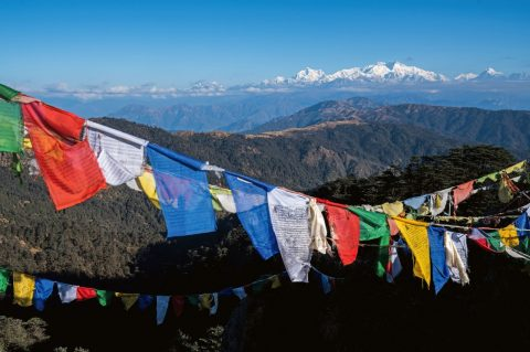 Flags, Sikkim, India