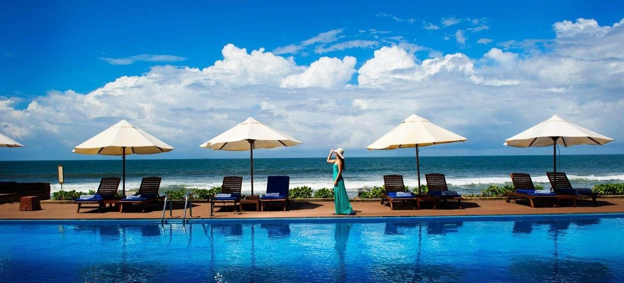 the pool at galle face hotel colombo