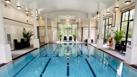 Indoor pool at Hyatt Hotel Canberra