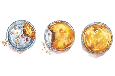 Meat pies illustration