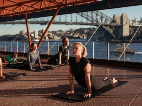yoga at the opera house