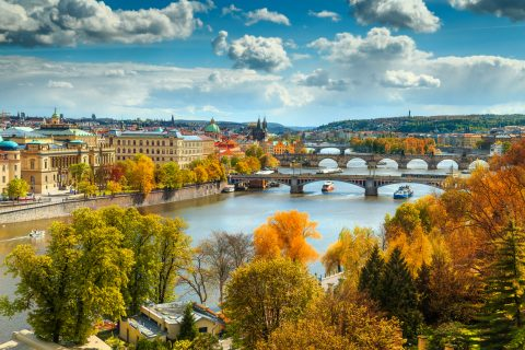 Wander across the Charles Bridge