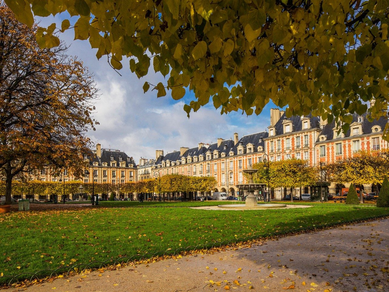 The Marais district of Paris