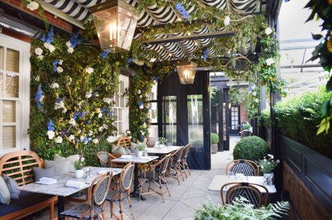 Dalloway Terrace restaurant at The Bloomsbury Hotel, London