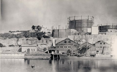 Gasworks at Neutral Bay in 1884