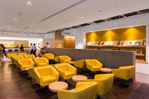Qantas Singpore Business Lounge