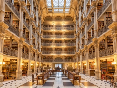 The George Peabody Library, Baltimore, United States