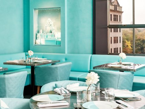 Tiffany and Co. serving breakfast at café