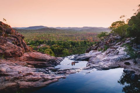 Swimming in an outback waterhole