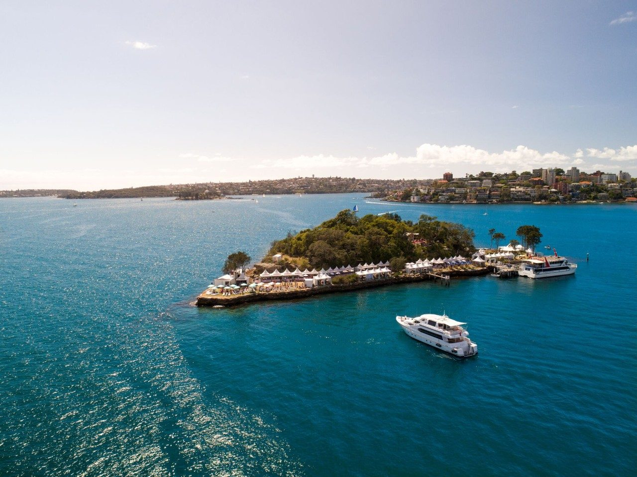 Wine Island aerial shot – Sydney Harbour