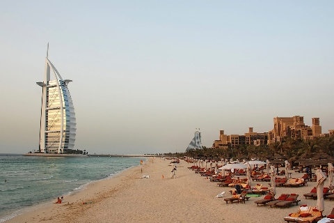 image of dubai with water