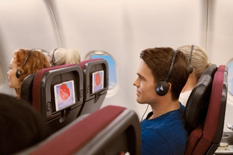 Man listening to the radio onboard