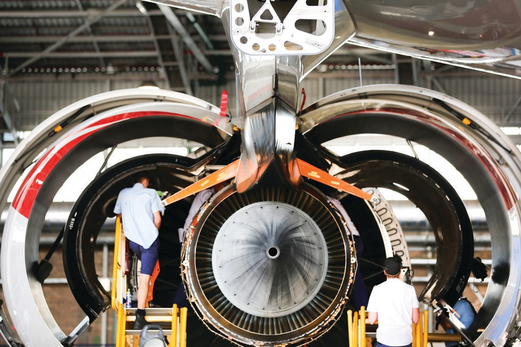Qantas Aircraft engine
