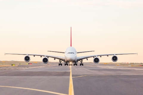 A380 on tarmac