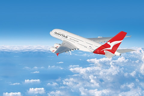 Qantas aircraft in flight