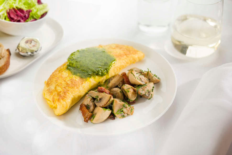 Ricotta and spinach omelette with mushrooms - Domestic Business