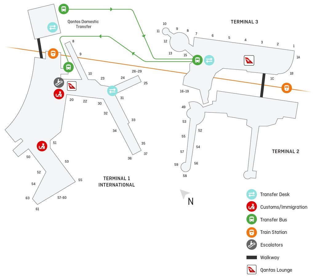Sydney Airport Terminal Map Sydney T3 domestic airport guide | Qantas