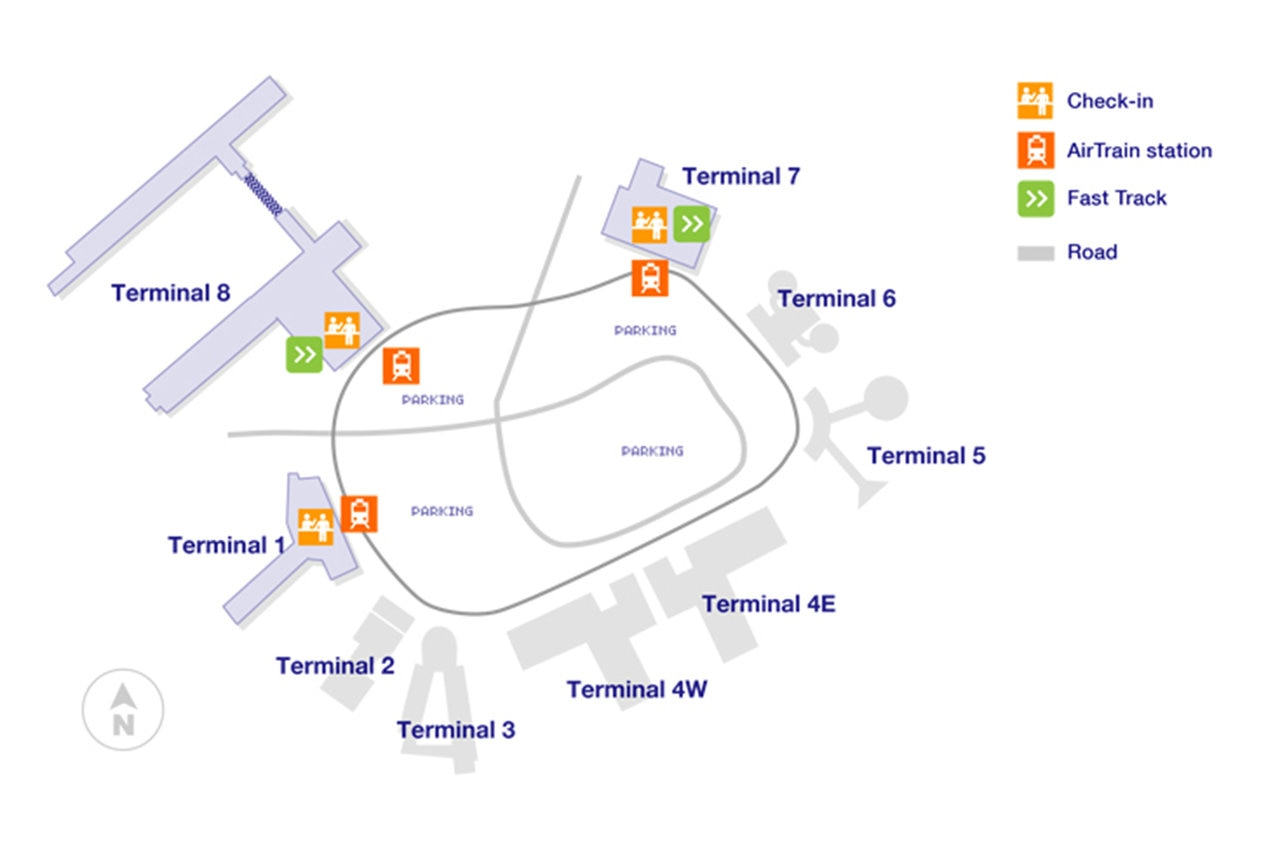 jfk map terminal 8 New York John F Kennedy Airport Guide Qantas jfk map terminal 8