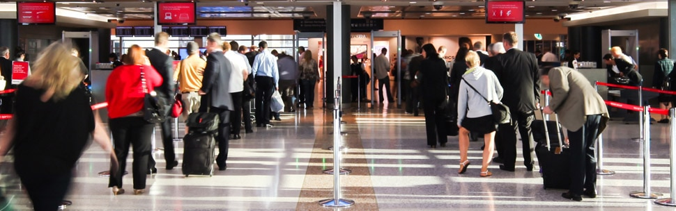 Airport terminals security gates