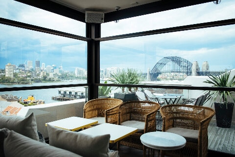 Henry Deane rooftop cocktail bar with views of Sydney Harbor Bridge