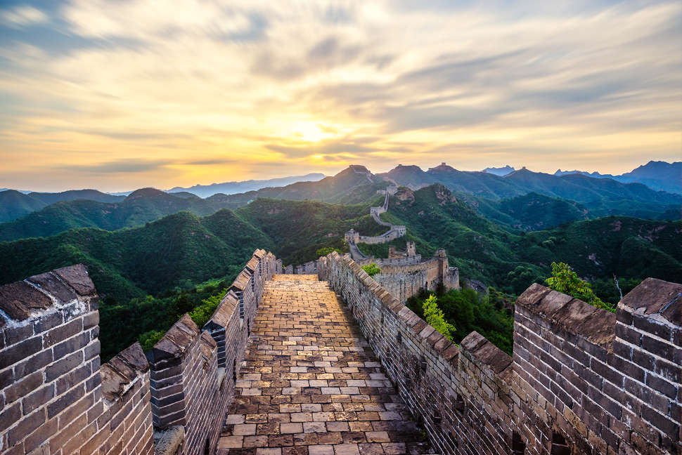 Beijing Great Wall China Sunrise