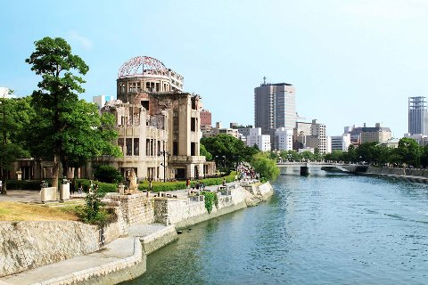 Hiroshima building on river