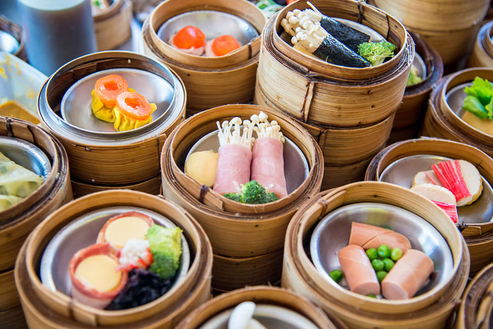 Chinese yum cha dishes